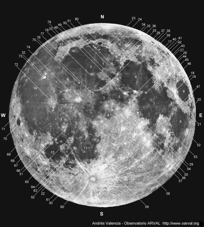 Observatorio ARVAL - Moon Map