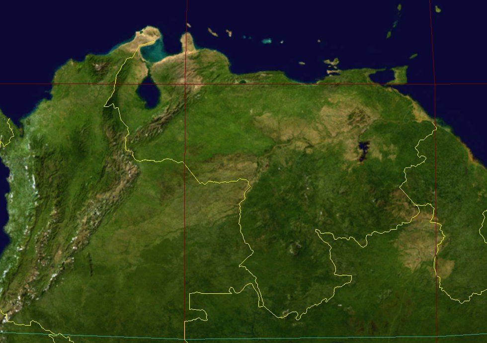 Topographic Map of Venezuela (2001)