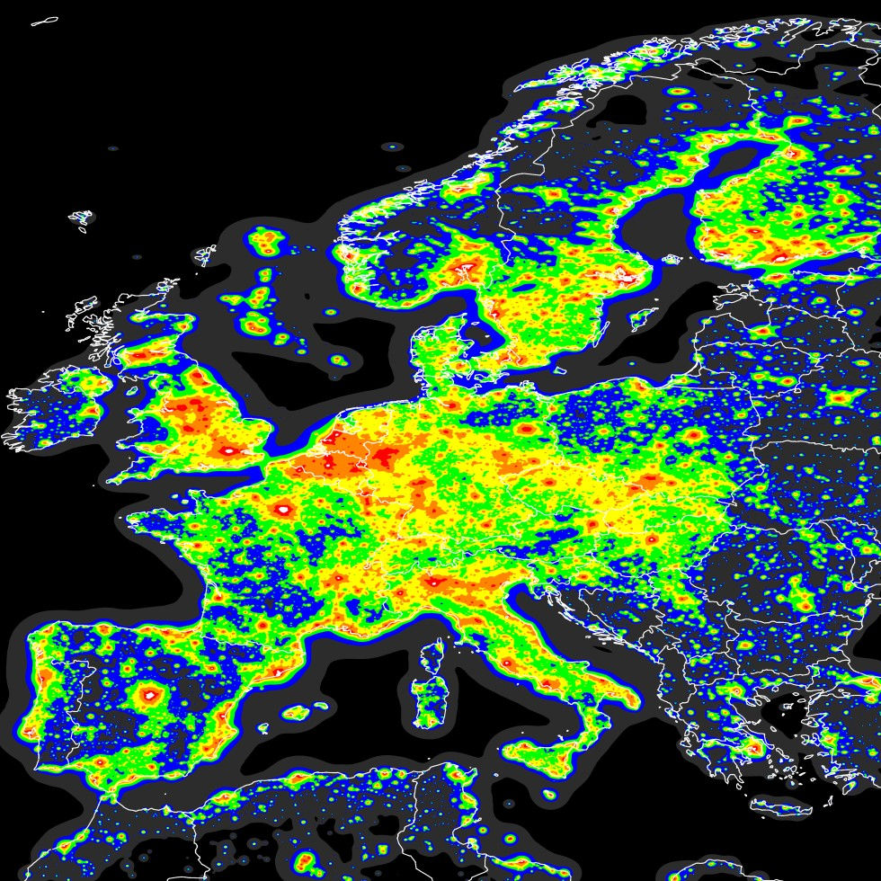 Luminic Map of Europe (1996-97)
